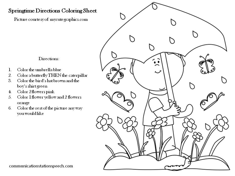 Following Directions Coloring Worksheet – Following Direction Worksheets